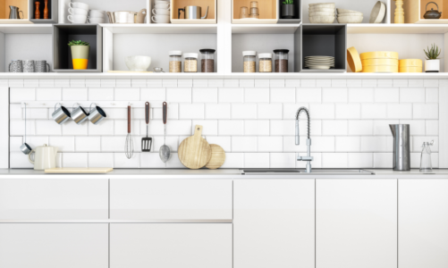How can I update my kitchen cabinets without replacing them?
